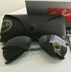ALL BLACK RAY-BAN AVIATOR 100% AUTHENTIC